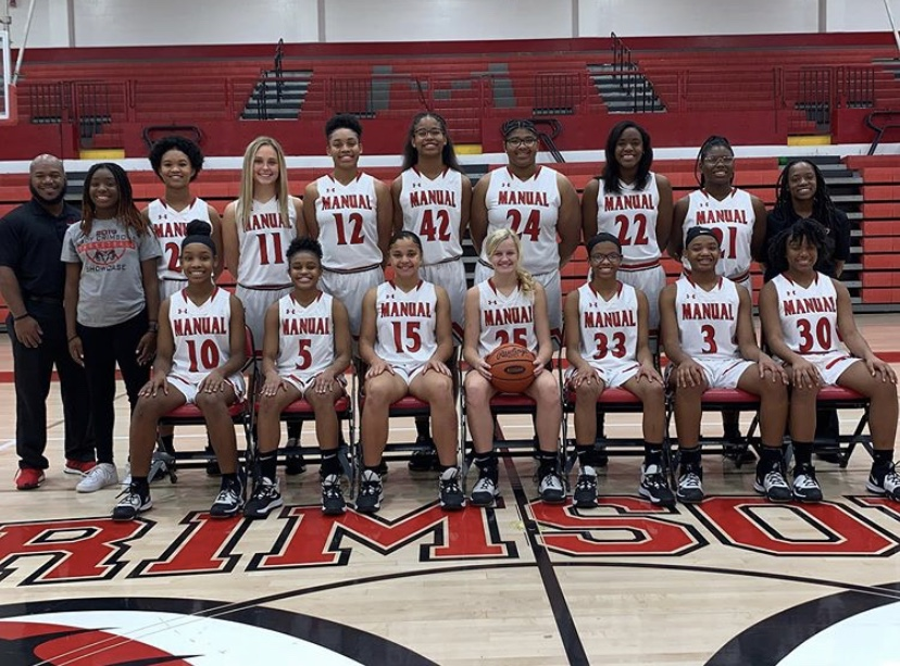 This is a picture of the 2018-2019 girls varsity basketball team.