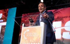 Bevin addresses the crowd at a student-oriented economic summit earlier this year.