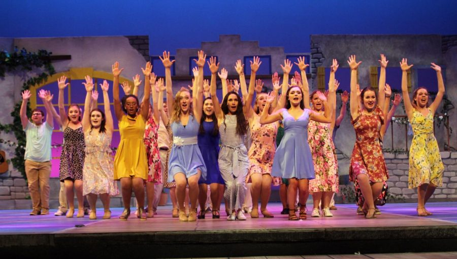 The cast performs Mamma Mia (reprise). Photo by Norah Wulkopf.