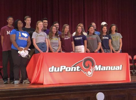 Manual female athletes represented on National Letter of Intent Day