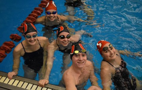 Manual's swim team makes a splash on senior night
