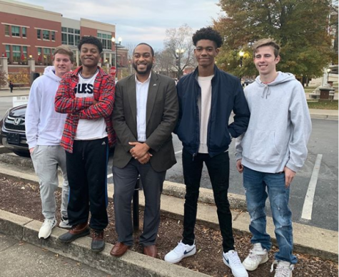 Charles booker meets with students at Western Kentucky University.