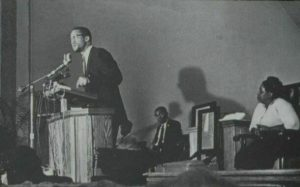 Malcolm X speaks in New York City in 1964