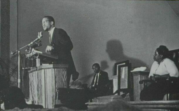 Malcolm+X+speaks+in+New+York+City+in+1964