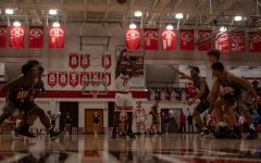 Ja Waun Northington (10, HSU) shoots a free throw against Central on Friday. Photo by Cesca Campisano.
