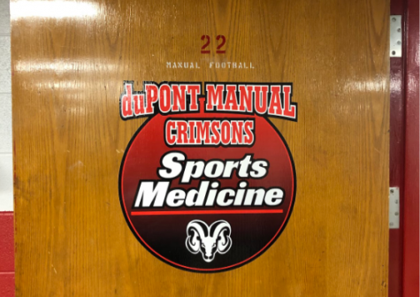 Manual's trainer's office serves as a resource for Manual students and athletes
