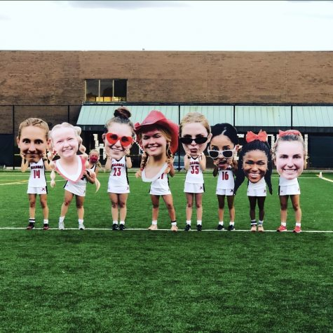 Picture of the field hockey seniors on Senior Night