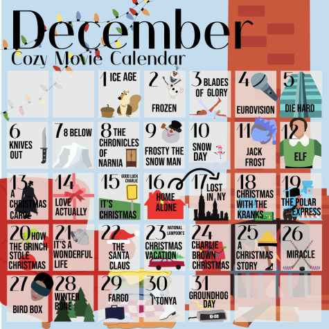 December cozy movie calendar