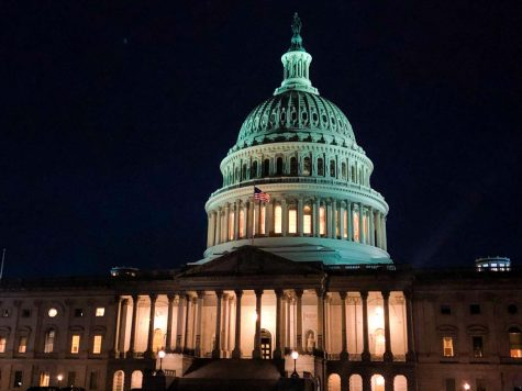 The US Capitol building on a fall night in 2019. Photo by EP Presnell.