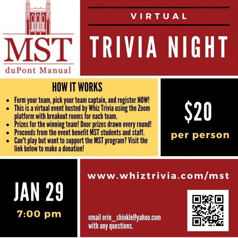 The MST Catalysts are hosting their fourth annual Trivia Night fundraiser, but this time it's virtual.