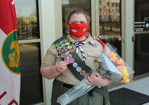 YPAS senior Juliette Cabral became apart of the inaugural class of female Eagle Scouts last Saturday, Feb. 6. Photo by Macy Waddle.