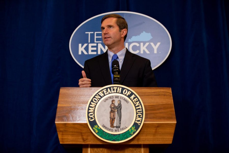 Governor+Beshear+speaking+at+