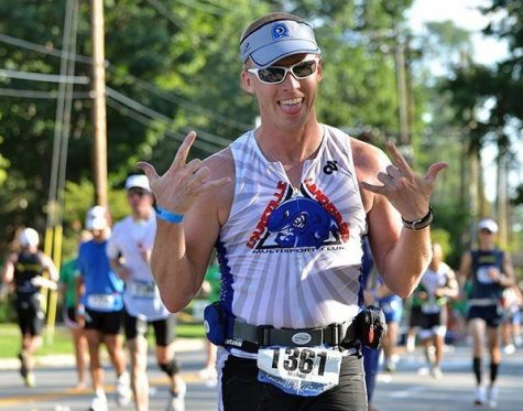 Dr. Newman was an avid race runner before becoming a principal. Photo courtesy of Dr. Newman.