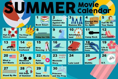 Summer movie calendar