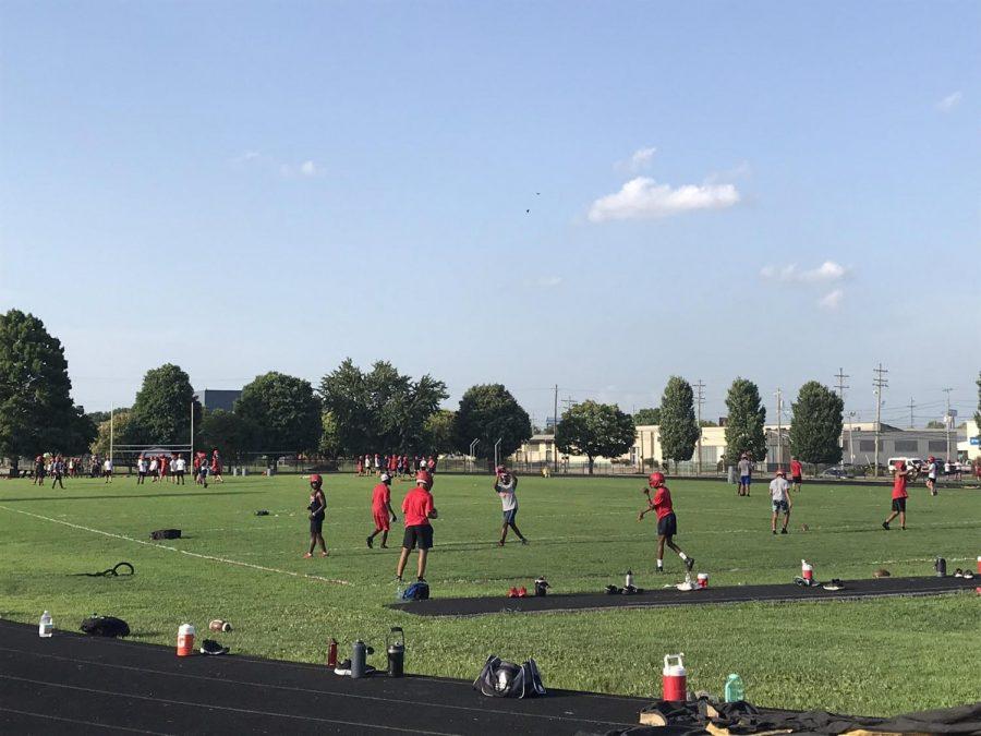 The Manual football team prepares for the season. Photo courtesy of @ManualAthletics.