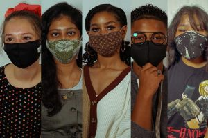 Manual students show off their favorite masks. Photos taken by Isaac Barnett.
