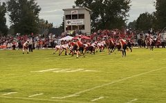 Manual football in position prior to JaWaun Northington's (#22, 12) rush touchdown. Photo by Aliyah Lang.